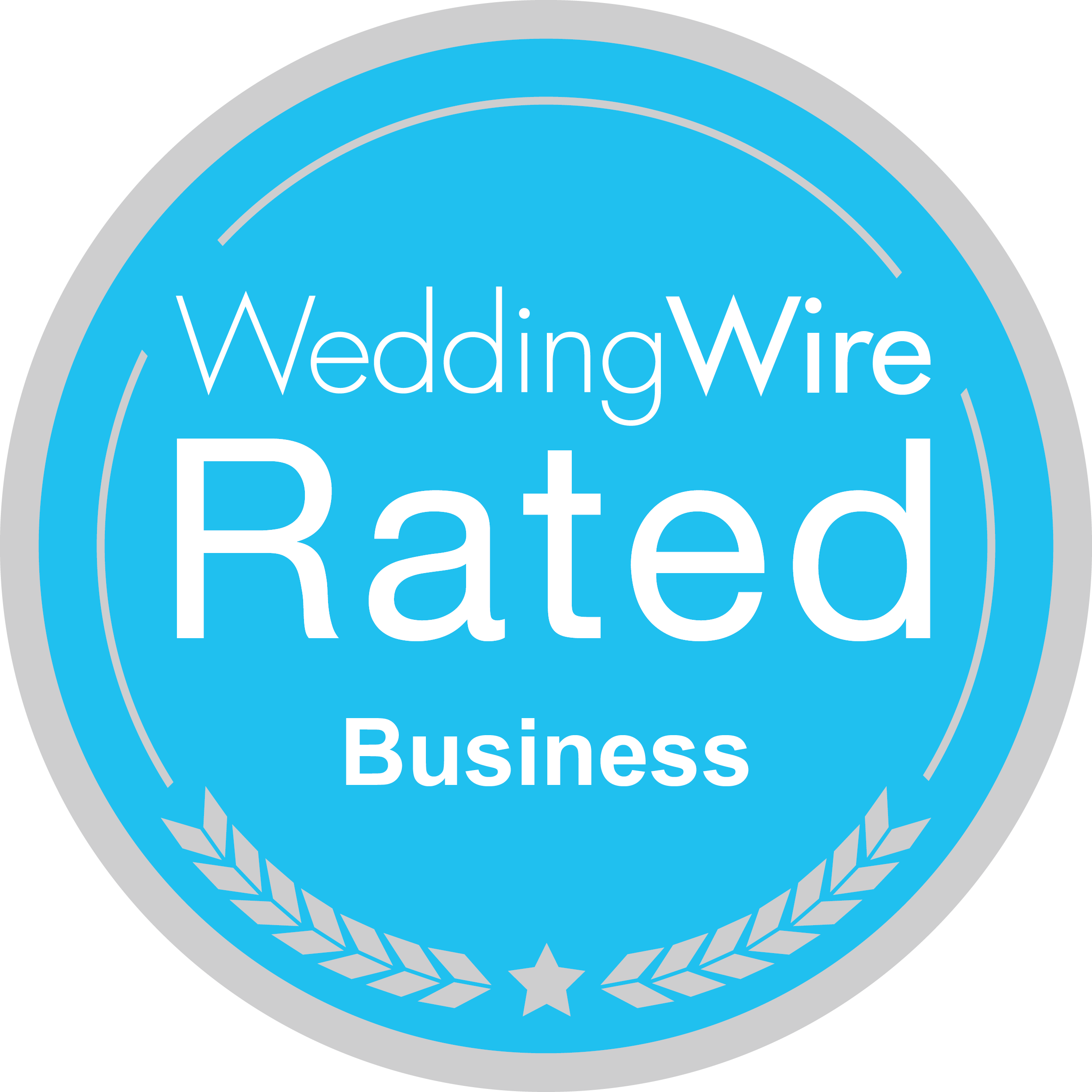 wedding wire rated badge   The Boat Club